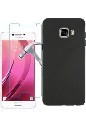 Tg Samsung Galaxy C5 Premier Silikon Kılıf + Ekran Koruyucu