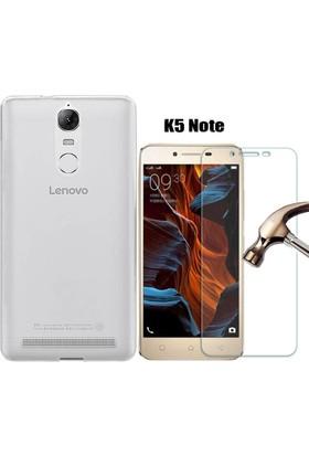 Tg Lenovo K5 Note Silikon Kılıf + Ekran Koruyucu