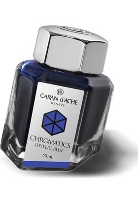 Caran D'Ache Şişe Mürekkep Idyllic Blue 50 Ml 8011-140