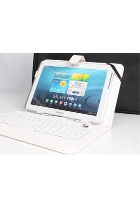 Çanta Shop Casper 8 İnçh Tüm Modellere Klavyeli Kılıf Çanta Beyaz