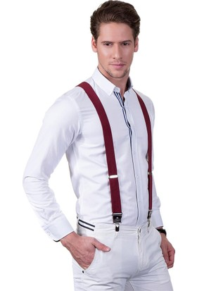 Tudors Bordo Düz Erkek Pantolon Askısı
