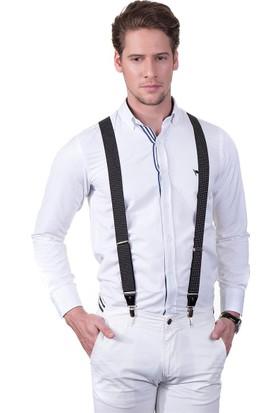 Tudors Siyah Düz Pantolon Askısı