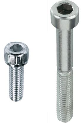 Çetin M8X30 Din 912 İmbus 8.8 Çelik Cıvata Beyaz 100 Adet
