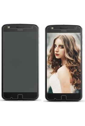 Microcase Motorola Moto Z Play Ultra İnce Silikon Kılıf+Tempered Cam