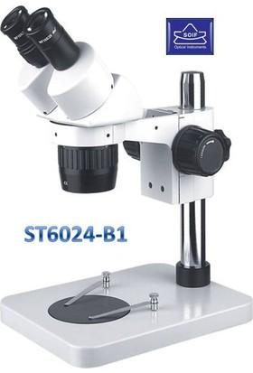 Soif St6024-B1 Binoküler Üstten Ring Led Aydınlatmalı Stereo Mikroskop-40X