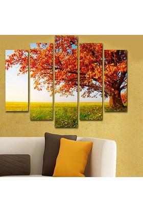 Evinemoda 5 Parçalı Mdf Tablo - Ağaç