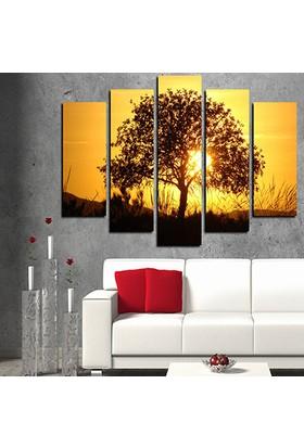 Evinemoda 5 Parçalı Mdf Tablo - Tree2