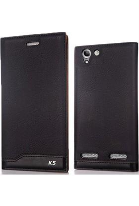 Case 4U Lenovo Vibe K5 Plus Kılıf Magnum Vip Deri Siyah