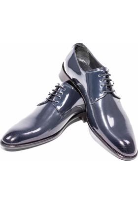 GiyimGiyim Lacivert Puantiyeli Rugan Klasik Erkek Ayakkabı