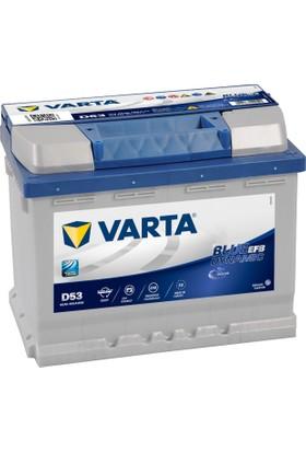 Varta 12V 60 Ah 560A Varta Akü EFB Start-Stop Blue Dynamic D53