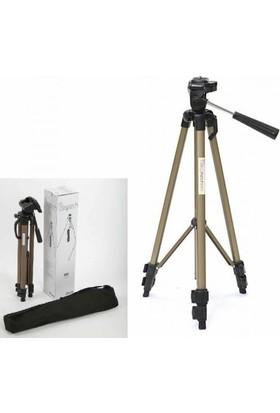 Hobimtek Profesyonel Tripod 165 Cm Şampanya Pro A Kalite Canon Nikon Sony