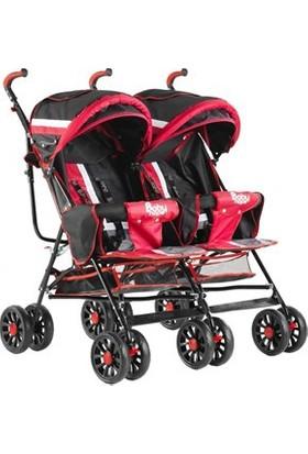 Babyhope Bh-610 İkiz Baston Bebek Arabası Kırmızı