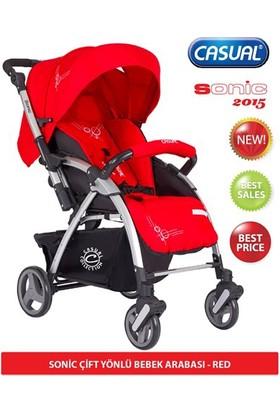 Casual Sonic Çift Yönlü Bebek Arabası Kırmızı