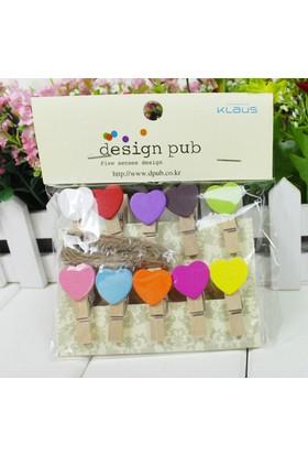 Klc Mini Renkli Kalpli Mandal