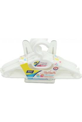 Titiz Bebek Elbise Askısı 6Lı Paket