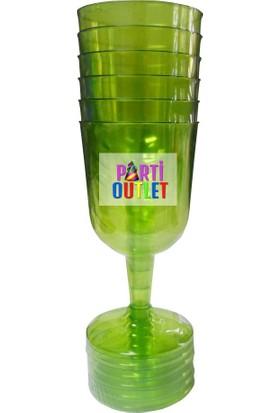 Partioutlet Yeşil Şeffaf Bardak / Kadeh - 6Lı
