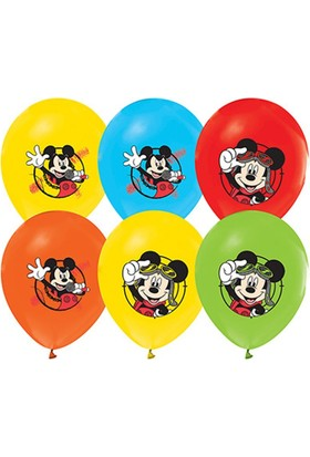 Partioutlet Mickey Mouse Temalı Latex Balon - 8 Li
