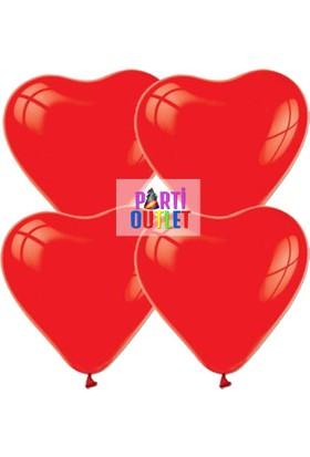 Partioutlet Kırmızı Kalpli Balon - 10 Lu