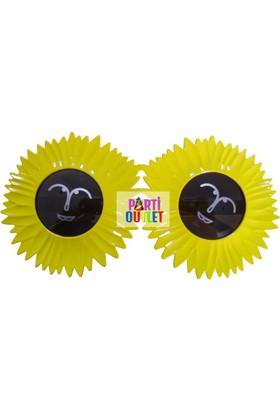 Partioutlet Gözlük Çiçekli Sarı
