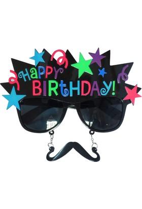 Partioutlet Happy Birthday Siyah Yıldızlı Gözlük