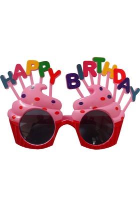 Partioutlet Happy Birthday Cupcakeli Gözlük