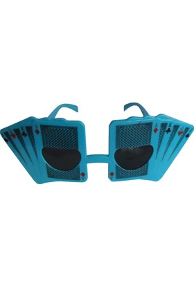 Partioutlet İskambil Kartları Şeklinde Gözlük - Mavi