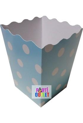 Partioutlet Popcorn Mavi Karton Kova - 10 Lu