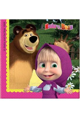 Partioutlet Masha And The Bear Peçete 20 Li