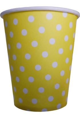 Partioutlet Sarı Puantiyeli Bardak 8 Li