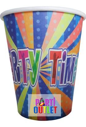 Partioutlet Party Tıme Bardak Mavi 8 Li
