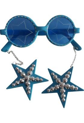 Partioutlet Küpeli Gözlük - Mavi