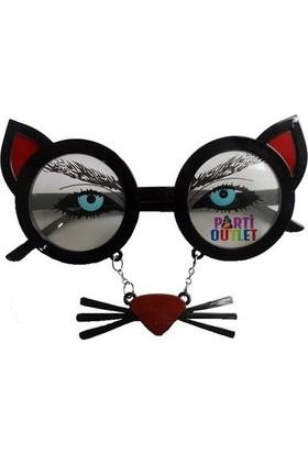 Partioutlet Gözlük Kedili Siyah