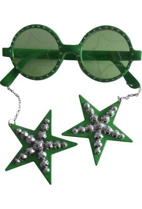 Partioutlet Küpeli Gözlük - Yeşil