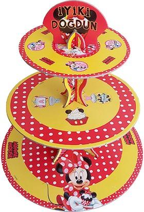 Partioutlet Minnie Mouse Cupcake Kek Standı