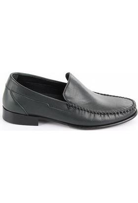 Gön 88586 Haki Antik Deri Erkek Ayakkabı