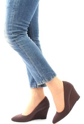 Gön Deri Kadın Ayakkabı 20267 Kahve Streç