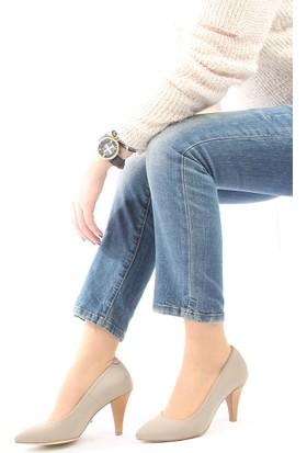 Gön Deri Kadın Ayakkabı 20292 Kum Streç