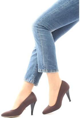 Gön Deri Kadın Ayakkabı 20292 Kahve Streç