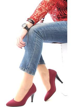Gön Deri Kadın Ayakkabı 20292 Bordo Streç