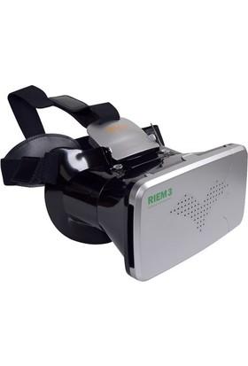 """Probiel Ritech Riem 3 Google Cardboard Sert Kaliteli Plastik 6"""" Sanal Gerçeklik Gözlüğü Siyah"""