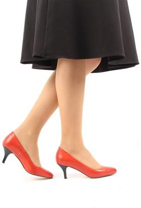 Gön Kırmızı Antik Deri Kadın Ayakkabı 22046