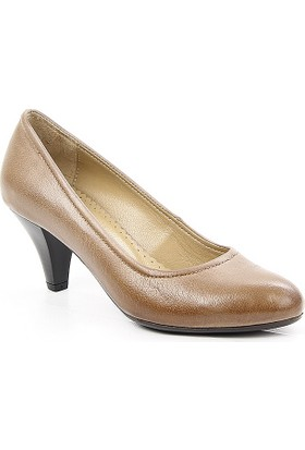 Gön Vizon Antik Deri Kadın Ayakkabı 22159