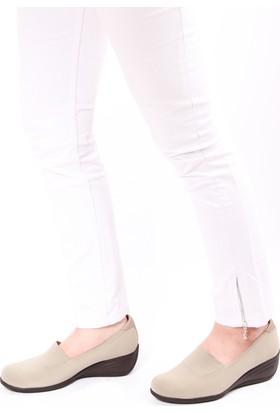 Gön 22392 Vizon Streçe Vizon Deri Kadın Ayakkabı