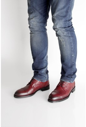 Gön 88598 Bordo Antik Deri Erkek Ayakkabı