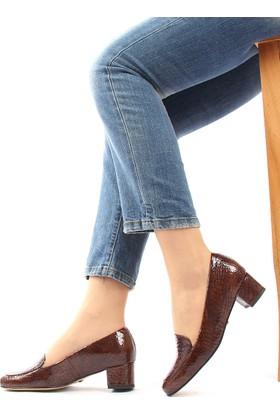 Gön 22338 Taba Krako Deri Kadın Ayakkabı