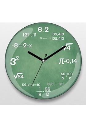 İf Dizayn İf Dizayn Matematik Duvar Saati Yeşil