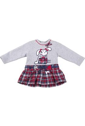 Tuc Tuc Çocuk Elbise, British Kırmızı - Lacivert Ekose