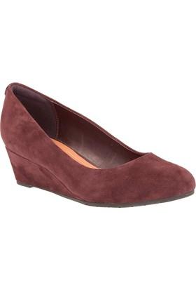 Clarks Vendra Bloom Kadın Dolgu Topuk Ayakkabı Bordo