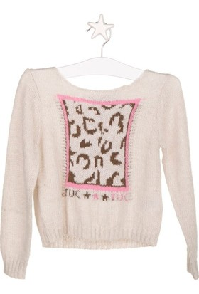 Tuc Tuc Kız Çocuk Triko Kazak, Pink Bej