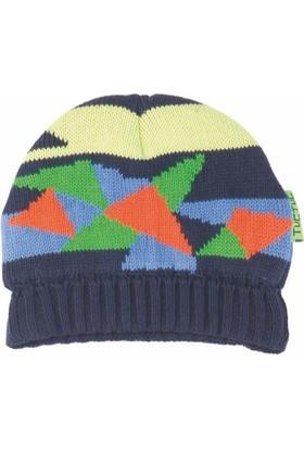 Tuc Tuc Şapka + Boyunluk Seti Lacivert - Mavi Çizgili